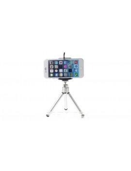 360 Degree Rotatable Tripod Stand Holder + Bracket Clip for Cellphones