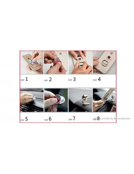 2-in-1 Magnetic Finger Ring Cell Phone Holder Stand