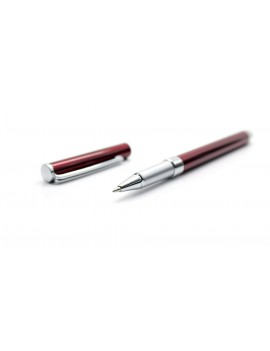 2-in-1 Capacitive Touch Screen Stylus + Pocket Water-based Pen (Red)