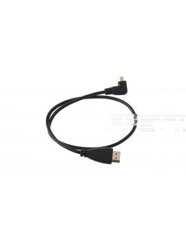Micro HDMI Right Angled Male to HDMI Male Data Cable