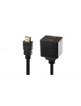 1080p HDMI Male to Dual HDMI Female Adapter Splitter (30cm)
