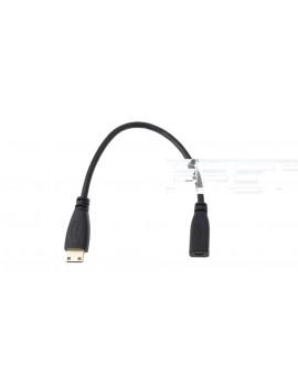 Micro HDMI Female to Mini HDMI Male Converter Cable