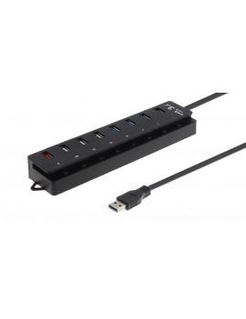 4-Port USB 3.0 + 3-Port USB 2.0 Hub
