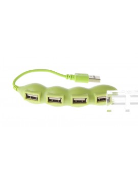 Pea Shaped 4-Port USB 2.0 Hub